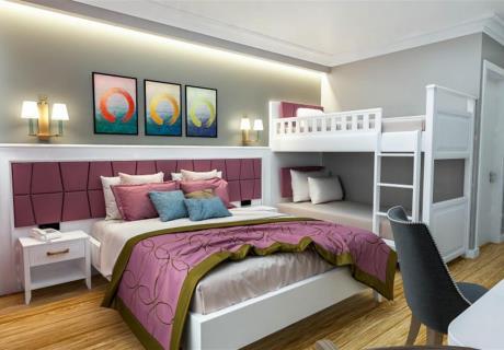 <div>22 m2 genişliğindeki odalarda 1 adet çift kişilik yatak bulunmaktadır. maksimum 2 yetişkin 1 çocuk konaklayacak şekilde dizayn edilmiştir. Odalar parke zemin olup banyo duşa kabin şeklindedir.(buklet banyo malzemeleri ,terlik ,fön makinesi,220w elektrik uydu yayınlı LCD tv split klima ,mini bar,çay kahve seti ve kettle ,kıble yönlü seccade ,tesbih ve telefon bulunmaktadır.</div><div><br></div><div>Odalarımız deniz ve doğa manzaralıdır.</div>