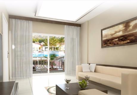 <div><br></div>İçinde oturma odası, banyo ve 1 adet özel balkon bulunur. Bu oda tipi orman, havuz, bahçe ve dağ manzaralıdır. Üst katlarda yer alır.